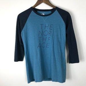 The North Face Blue 3/4 Length Sleeve Medium
